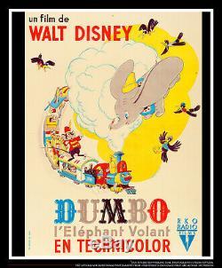 DUMBO RKO Walt Disney On Linen 4x6 ft Grande Movie Poster Original 1941