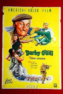Darby Ogill Walt Disney Sean Connery 1959 Rare Exyu Movie Poster
