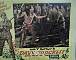 Davy Crockett King of Wild Frontier Movie (8 Lobby Card Set) 1955, Disney