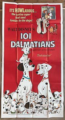 Disney 101 dalmatians original movie poster 39 x 77