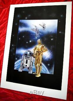 Disney Artist Scott Westmoreland STAR WARS C-3PO R2-D2 ORG Handwritten Painting