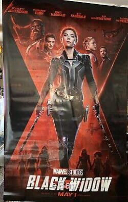 Disney Black Widow / Artemis Fowl 8ft X5ft Vinyl Movie Theater Banner Poster