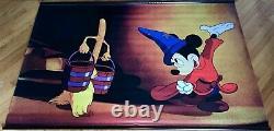 Disney FANTASIA 2000 Rare Org. Lobby Banner Mickey Mouse SORCERER'S APPRENTICE