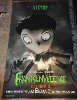 Disney Frankenweenie 3 DS US vinyl lobby banners poster 5x8 COMPLETE SET