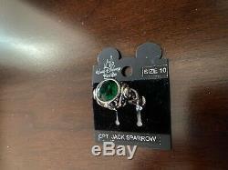 Disney Jack Sparrow Emerald Skull Ring Pirates Of the Caribbean Johnny Depp SZ10