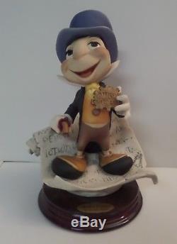 Disney Jiminy Cricket Giuseppe Armani SIGNED Figurine Italy 0379-C 9 tall COA