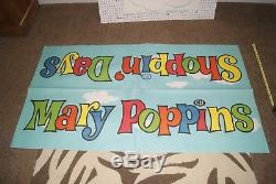 Disney Julie Andrews Mary Poppins 1964 Org Advertising 2 Piece 2-sided Vintage