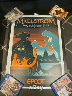 Disney Maelstrom Norway Pavilion EPCOT- Serigraph LE 100