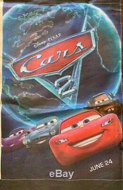 Disney Pixar Cars 2 EX-RARE RARE RARE Velcro Column Wrap Display 8ftx8ft