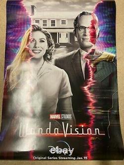 Disney Plus WandaVision Teaser Movie Poster 27x40 Double Sided DS Authentic