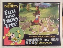 Disney Rare Orig. Fun And Fancy Free Vintage Lobby Card #2- 1947- Cartoon