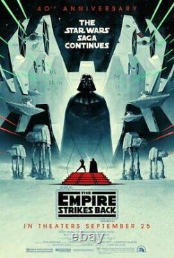 Disney Star Wars Empire Strikes Back 40th Anniversary One Sheet DS 27x40