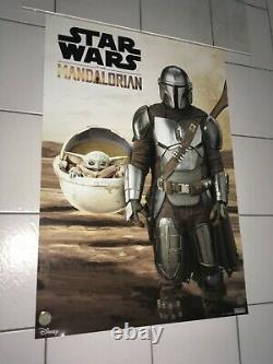Disney Star Wars Lucasfilm The Mandalorian 2020 Mnt Ds Teaser Promo Movie Poster