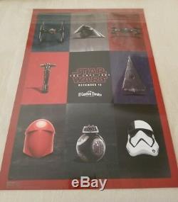Disney Star Wars The Last Jedi El Capitan Movie Marathon Premiere Poster LE 1500