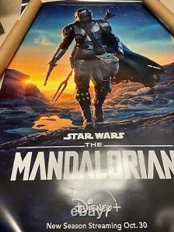 Disney Star Wars The Mandalorian 27x40 Double Sided DS Movie Poster Authentic E