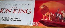 Disney THE LION KING Rare Original Vinyl Movie Theatre Lobby Banner 1994