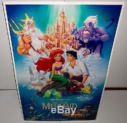 Disney THE LITTLE MERMAID Original Movie Theatre Lobby Standee RARE UNUSED MIB