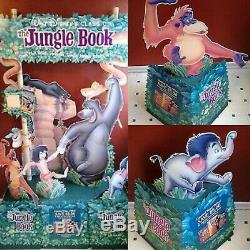 Disney The Jungle Book 3 Piece Standee Cut Out Rare Sealed New Cutout
