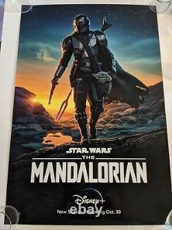 Disney The Mandalorian Original 27x40 2 Sided DS Poster One Sheet RARE Star Wars