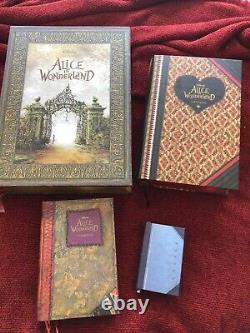 Disney/Tim Burton/Johnny Depp ALICE IN WONDERLAND stacking books press kit withUSB