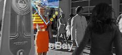 Disney Tomorrowland Movie Original Screen Used Wardrobe Orange Dress Costume