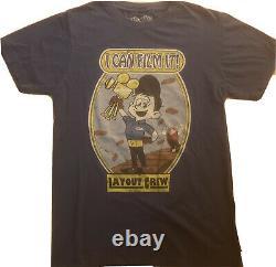 Disney Wreck It Ralph Cast Animation Layout Crew T-Shirt Fix It Felix Very Rare