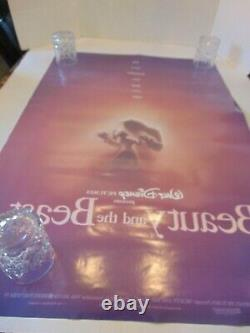 Disney's BEAUTY&THE BEAST 1991 Original DBL Sided Movie Poster 40 x 27 #20693