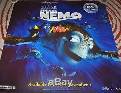 Disney's Finding Nemo Rare 48 X 48 Promo Poster Pixar