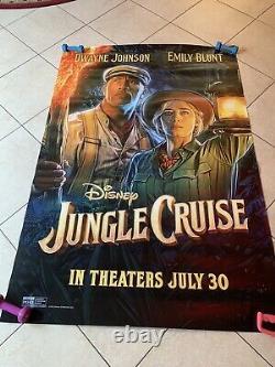 Disney's Jungle Cruise Dwayne Johnson & Emily Blunt Bus Shelter Movie Poster