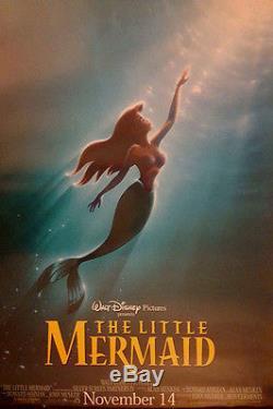 Disney's Little Mermaid Original Reissue Advance Us One Sheet Poster