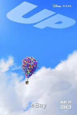 Disney's Pixar UP 2009 Original Teaser Version 6x9' Movie Theater Lobby Banner