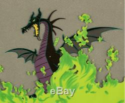 Disney's Sleeping Beauty Original Production Cel Of Maleficent As Dragon
