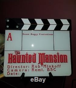 Disney's The Haunted Mansion Production Used Slate/Clapperboard Prop! Rare