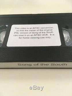 Disneys Song Of The South Movie With Two Formats Vhs For USA And Vhs Uk Pal