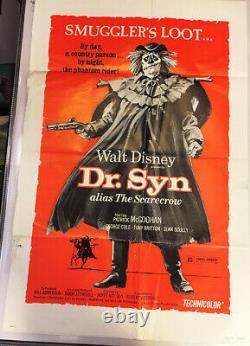 Dr. Syn Alias The Scarecrow!'73 Walt Disney Rare Original1-sht Movie Poster