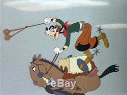 EL GAUCHO GOOFY (1943) linen 1sh R55 Disney Cartoon Poster linen Rare