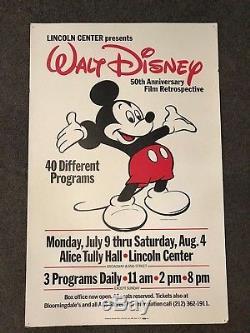 EXTREMELY RARE Original Walt Disney Fiftieth Film Retrospective Poster