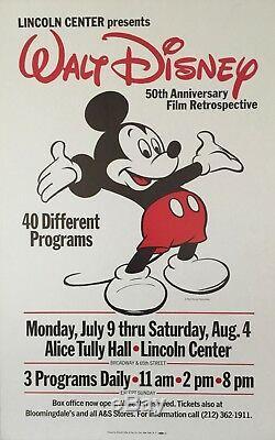 EXTREMELY RARE Original Walt Disney Fiftieth Film Retrospective Poster 1973