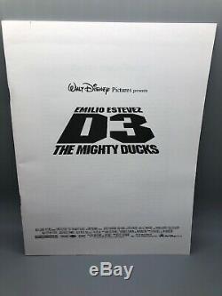 Emilio Estevez Disney's D3THE MIGHTY DUCKS (1994) press kit 6 Slides 4 Photos
