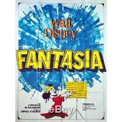 FANTASIA Original Movie Poster 47x63 in. R1967 Walt Disney, Deems Taylor