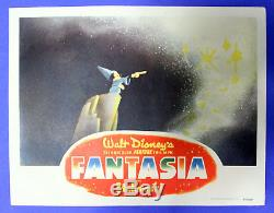FANTASIA Original Walt Disney Lobby Card BEST withMICKEY MOUSE