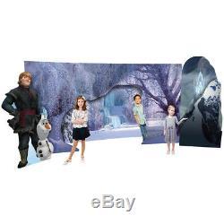 FROZEN WINTER SCENE Backdrop CARDBOARD CUTOUT Standup Standee Disney Background