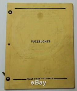FUZZBUCKET / Mick Garris 1986 Screenplay,'The Magical World of Disney' Creature