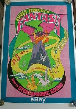 Fantasia Original Movie Poster (R1970, Walt Disney) 27 x 41 VF
