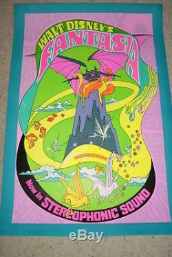 Fantasia Rolled 1sh Orig. R-1970 Poster, Disney