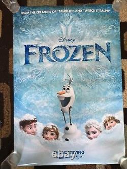 Frozen & Frozen 2 Original Movie Poster 27x40 DS Lot Of 2 2013 & 2019 Disney U. S