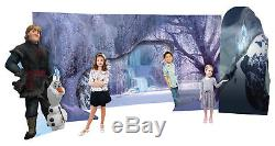 Frozen Scene 3D Olaf Kristoff Lifesize Cardboard Cutout Stand Up Disney Party