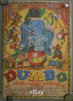 G7056D DUMBO WALT DISNEY 1944 VERY RARE original spanish COMPLETE STAMP ALBUM