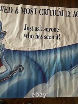 GIANT VTG Disney Aladdin Genie THEATER PROMO BANNER vinyl poster 10ft X 4ft RARE