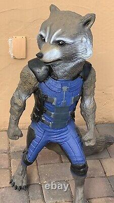 GOTG Guardians Of The Galaxy Life Size Rocket Very Rare Disney Movie Prop Wow
